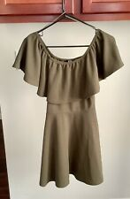 Youth Girl's I-X London Dress Army Green Stretchy Size 10 Children's