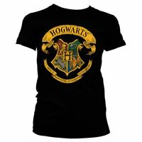Womens Harry Potter Hogwarts House Crests Fitted T-Shirt - Ladies School Tee