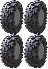 Four 4 Kenda Bearclaw ATV Tires Set 2 Front 27x9-12 & 2 Rear 27x11-12 K299