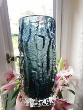 Whitefriars Bark Vase Indigo Large 23.5 cm tall.