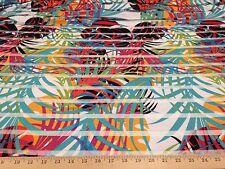 "Hawaiian Tropical Print 4 Way Stretch Burnout Poly Lycra Fabric 58"" W BTY"