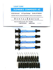 Light Cure MICRO HYBRID FLOWABLE Composite Dental Supply 4 Syringe Kit Shade A2