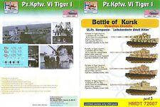 """H-MODELS DECALS 1/72 Pz pour Kpfw VI Tiger I-Bataille de Koursk PARTIE 3 """"LAH"""""""