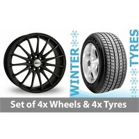 "4 x 15"" Calibre Rapide Matt Black Alloy Wheel Rims and Tyres -  185/65/15"