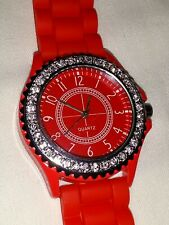 NEW Red Crystal Watch