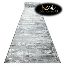 Modern Hall Runner structural MEFE 6184 Wall brick grey 60-120cm extra long RUGS