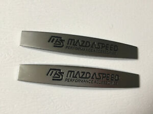 2x Mazda Speed Mazda Speed MS Sport Side Wing Fender Badge 3D Logo Style One