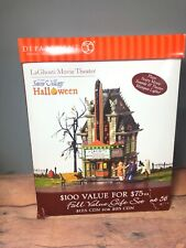 Dept 56 Snow Village Halloween LaGHOSTI MOVIE THEATER 55374 Light & Sound (17)
