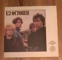 U2 ‎– October Vinyl LP Album 33rpm 1981 Island ‎– ILPS 9680