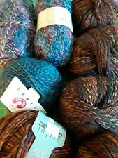 Lot of Variegated Worsted Stahl Wool Sock Yarn 7 Unbroken+ 1/4 Colors Lightwt.
