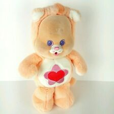 """Vintage Care Bears Cubs Proud Cat Plush 12"""" Kenner 1986 Country Cousins Flocked"""