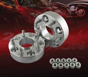 """2pc 38mm (1.5"""") Thick 5x114.3 Hub Centric Wheel Adapters Spacers M12x1.5 70.3mm"""