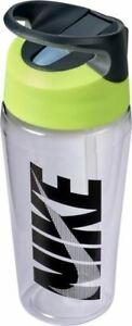 Nike TR Hypercharge Straw Bottle - Sports Water Bottle - Clear/Volt/Black - 16oz
