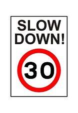 30 mph wheely bin ralentir vitesse sensibilisation autocollant décalque graphique vinyle étiquette