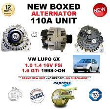 per VW Lupo 6X 1.0 1.4 16V FSI 1.6 GTI DAL 1998 IN POI NUOVO 110A Alternatore