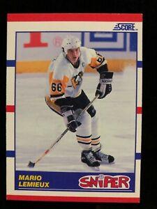 1990-91 Score Mario Lemieux Sniper #337 Pittsburgh Penguins