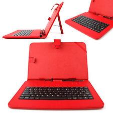Premium French AZERTY Keyboard Folio Case in Red for Motorola Xoom & Xoom 2