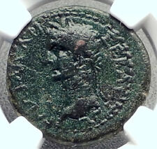 CALIGULA & RHOEMETALKES III King of Thrace 38AD Ancient Roman Coin NGC i72347