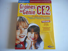 JEU CD PC NEUF- GRAINES DE GENIE CE2 / 8-9 ANS