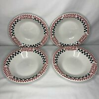 Coca-Cola Coke Dinnerware Set of 4 Bowls - Gibson Vintage 1996
