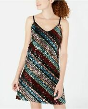 As U Wish Juniors' Sequined A-Line Dress - Multi colour party dress - XL UK 16