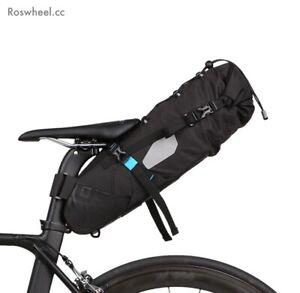 ROSWHEEL/SAHOO Large Bike Packing Gravel Adventure Bike 8-10Ltr Saddle Bag UK