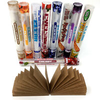 Cyclone Pre-Rolled Clear Cones 10 TUBE PACK + 1 FILTER TIPS  FREE (10 FLAVORS)