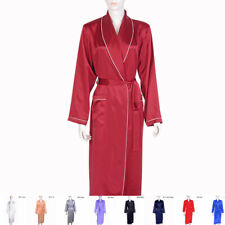 Women Ladies 30mm 100% Silk Long Bath Robe Sleepwear Nightie Pajama  Night Dress