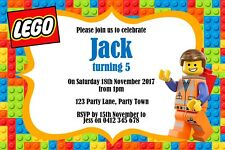 Personalised Lego Themed Birthday Invitation - You Print
