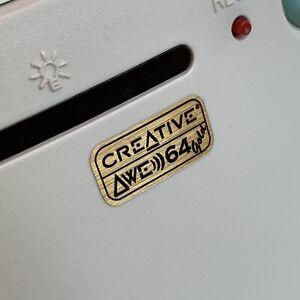 Creative Sound Blaster AWE 64 GOLD Computer Case Badge Sticker 386 486 Pentium