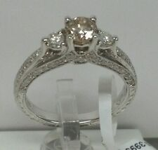 18k solid gold engagement wedding ring  1.22cttw 0.66ct cnt champagne diamond