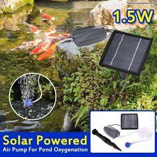 1.5W Solar Powered Panel Air Oxygenator Pond Pool Water Garden Air Pump Outdoor