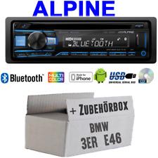 Alpine AUTORADIO PER BMW 3er e46 Bluetooth CD USB mp3 1-din da auto kit installazione