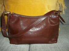 CLAUDIA FIRENZE MADE IN ITALY BEAUTIFUL CONKER BROWN LEATHER HAND BAG
