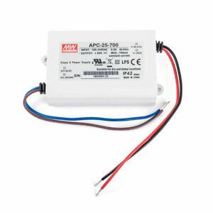 Mean Well APC-25-350/500/700/1050 25W Konstantstrom LEDDriver 350/500/700/1050mA