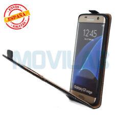 Funda Samsung G935 Galaxy S7 Edge TPU / Piel tapa vertical tarjeta negra