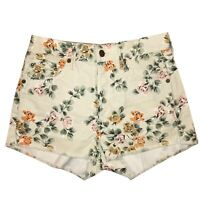 Citizens of Humanity Women's Chloe Floral Retro High Rise Shorts 25 Raw Hem