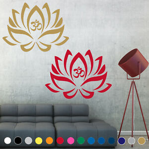 Lotus Flower Yoga Decal Sticker Symbol Buddhism Wall Door Room House Decor V4