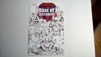 House of M Sketchbook (Marvel)2005 SIGNED by Artist AARON LOPRESTI -- FN/VF