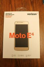 New - Motorola Moto E4 Verizon Prepaid - Cell Phone Smartphone Mobile