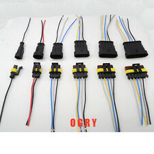 Each 10pc 1/2/3/4/5/6 Pin Waterproof Electrical Wire Connector Plug Wire harness