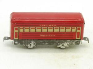 Marx Trains Red Pullman Coach Montclair Zinc Frame with Twist Tab Couplers
