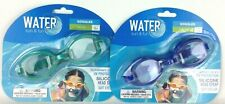 Water Goggles Lot Of 2 Green Blue Summer Pool Water Swim Fun Uv Lens Protection