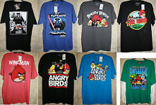 NWT Angry Birds Long Short Sleeve Crew Graphic Tee shirt Colors Cotton