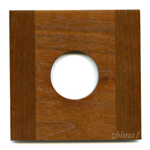 """1 LENS BOARD 4.5x4.5"""" for Eastman 2D/5x7"""" for Copal #0,#1-Sol. Walnut, free hole"""