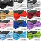 1Pcs Mens Unisex Tuxedo Bowtie Solid Color Neckwear Adjustable Bow Tie Wedding