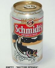 SCHMIDT'S SPORT FISH BIG BLACK BASS BEER CAN WISCONSIN FISHING LARGE MOUTH GOLD
