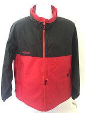 Columbia Sawtooth Parka Packable Mens L Red/Black Lightweight Jacket Hidden Hood