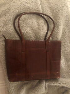 Franchetti Bond Brown Leather Handbag, With Dust Bag, Used Once - Perfect Cnd