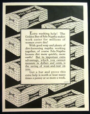 1927 Fels Naptha laundry soap print ad art